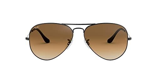 Ray Ban Unisex Sonnenbrille Aviator, Gr. Large (Herstellergröße  58), Grau cc86563b85