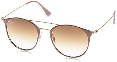 RAYBAN Unisex-Erwachsene Sonnenbrille RB3546, Gold (Copper Top On Beige/Cleargradientbrown), 52 von Ray-Ban