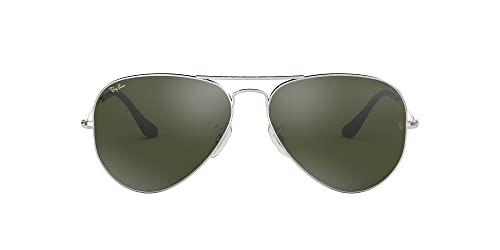 Ray-Ban RAYBAN Herren Sonnenbrille RB3587 Chromance, Silber (Shiny Silver/Greymirgreygradientpolar), 61