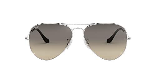 Ray-Ban Unisex Sonnenbrille Rb 3025, (Gestell  Silber, Gläser  Hellgrau 58cfabd379