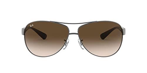 Ray-Ban Unisex Sonnenbrille RB3506, Gr. X-Large (Herstellergröße: 64), Mehrfarbig (Gestell: Gunmetal/Braun, Gläser: Polarized Braun Klassisch 132/83)