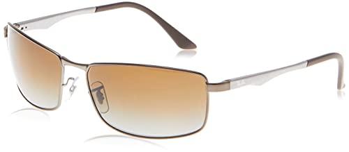 Ray-Ban Unisex Sonnenbrille RB3522, Mehrfarbig (Gestell: Gunmetal/Havana, Gläser: Braun Verlauf 029/13), X-Large (Herstellergröße: 61)
