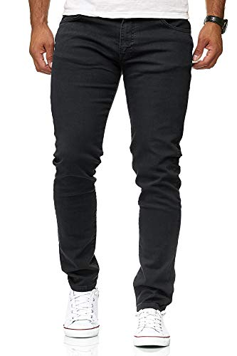 b872b9db42 Red Bridge Herren Jeans Hose Slim-Fit Röhrenjeans Denim Colored Schwarz W29  L32 von Redbridge