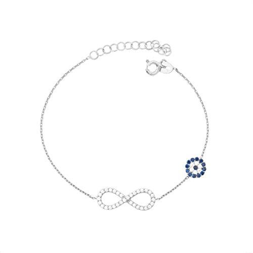 Remi Bijou 925 Sterling Silber Armband Armkette - Infinity Ewige Liebe  Sonsuzluk Türkisches Auge Nazar Boncuk 17d842eee9