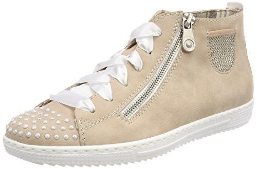 Rieker Damen L0900 Sneakers, Gold (RoseLightrose 31), 36
