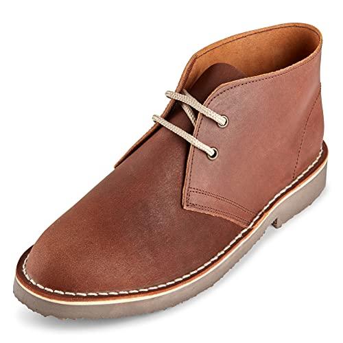 Roamers - Damen Desert-Boots - Rahmengen?ht mit Antikleder - Braun, Braun, 39/40 EU