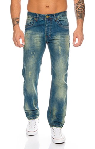 Rock Creek Herren Jeans Blau RC-2103A [W33 L34] von Rock Creek