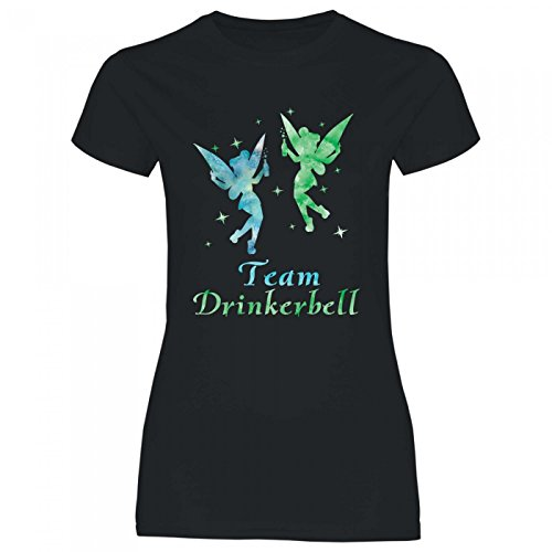 Royal Shirt a63 Damen T-Shirt Team Drinkerbell | Malle JGA Alkohol Feiern Fee Party Mädels Girly, Größe:XXL, Farbe:Black von Royal Shirt