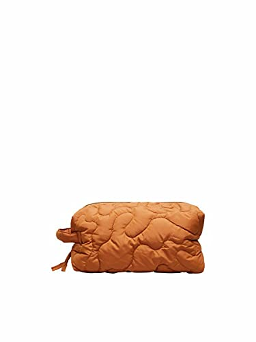 SELECTED FEMME Damen SLFTOMINE QUILTED TOILETRY BAG B Schminktasche, Sudan Brown, ONE SIZE von SELECTED FEMME