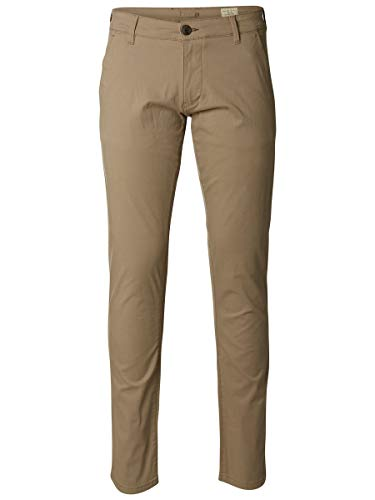 SELECTED HOMME Male Chino SLHPARIS Regular FIT - 3636Greige von SELECTED FEMME