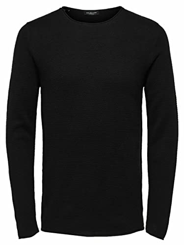 SELECTED HOMME Herren Pullover SLHROCKY Crew Neck B NOOS, Schwarz (Black), X-Large von SELECTED HOMME