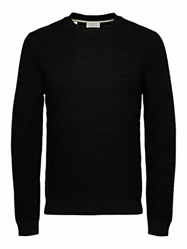 SELECTED HOMME Male Pullover Bio-Baumwoll SBlack von SELECTED HOMME