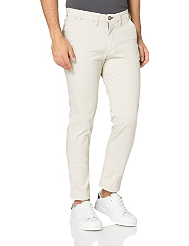 SELECTED HOMME Herren SLHSLIM-Miles Flex Chino Pants W NOOS Hose, Moonstruck, 31/34 von SELECTED HOMME