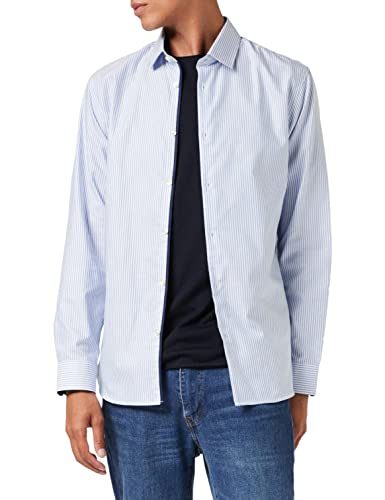 SELECTED HOMME Herren Slhslimnew-mark Shirt Ls Noos Businesshemd, Sky Blue, XXL EU von SELECTED HOMME