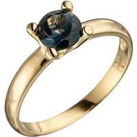 SIGO Damen Ring 585 Gold Gelbgold 1 Blautopas blau London Blue Goldring von SIGO