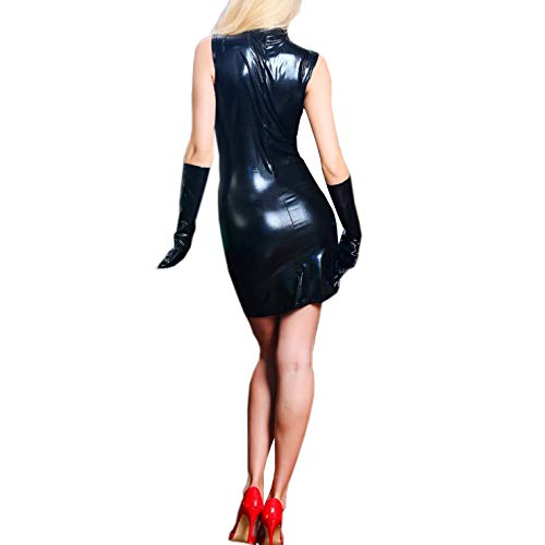 SSScok Sexy Lingerie Lacquer Ladies Lingerie Leather, Clubwear Jumpsuits Erotic Sleepwear Women von SSScok