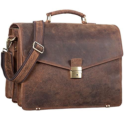 2d82c0c941988 STILORD  Morpheus  Aktentasche Leder Groß Herren XXL Businesstasche riesige  Lehrertasche mit Laptopfach Dokumententasche mit