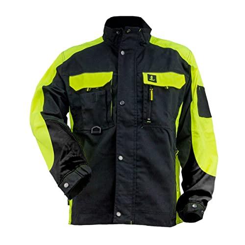 Safety Urgent URG-C Polar Fleecejacke Professionelle Arbeitsjacke sch/ützende Warnjacke fleeceisolierte 300g//m2 Schutzjacke reflektierende Mantel Taschen Herren Jacke EN340 schwarz mit gelb
