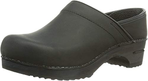 Black Sanita 36 closed 2 Damen Julie Clogs Schwarz 0HwrxHXqB