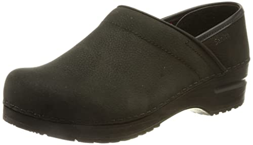 Damen Sanita Clogs Schwarz 37 Oil Black 2 Textured Prof fFfwpxtR