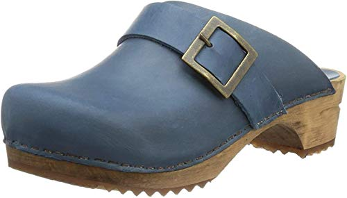 Clogs Urban Damen 35 5 amp; open blue Blau Sanita Pantoletten Ct7Eqxq