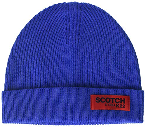 Scotch & Soda Herren Classic Rib Knit Beanie Baseball Cap, Blau (Star Blue 3200), One Size (Herstellergröße: OS) von Scotch & Soda