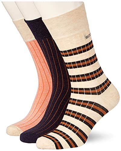 Scotch & Soda Herren Classic Ribbed Cotton-Blend Socken, Combo A 0217, L von Scotch & Soda