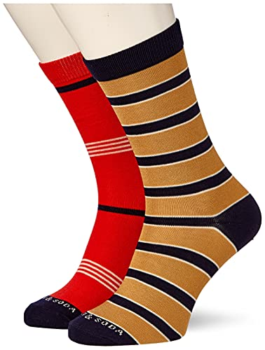 Scotch & Soda Herren Classic Striped Cotton-Blend Socken, Combo A 0217, XL von Scotch & Soda