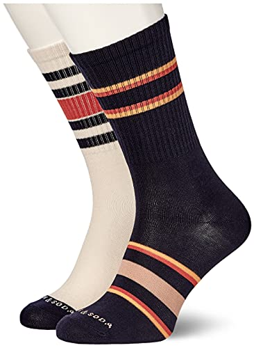 Scotch & Soda Herren Classic Striped Cotton-Blend Socken, Combo B 0218, XL von Scotch & Soda