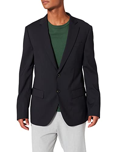 Scotch & Soda Herren Cool Wool Blazer, Blau (Night 58), 48 (Herstellergröße: M) von Scotch & Soda