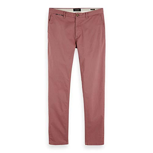 Scotch & Soda Herren Stuart Chino Hose, Rosa (Pink Smoke 3194), 34W / 34L von Scotch & Soda