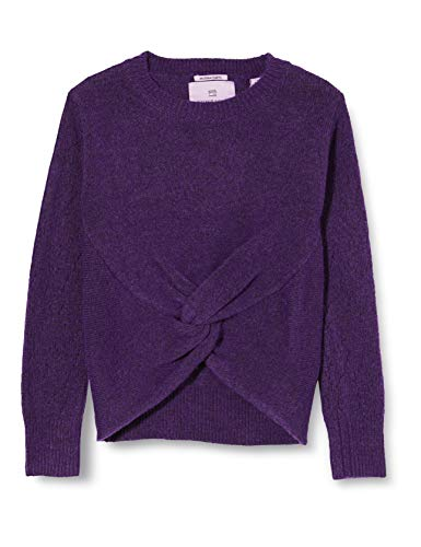 Scotch & Soda R´Belle Girls Strickpullover mit Knoten aus recycelter Wollmischung Pullover Sweater, Midnight Purple Melange 3888, 12 von Scotch & Soda