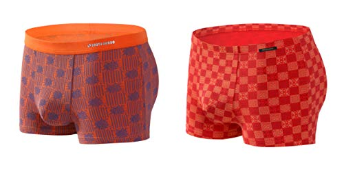Superdry Double Pack BOXER intimo uomo ORANGE LABEL Sport Trunk Grigio