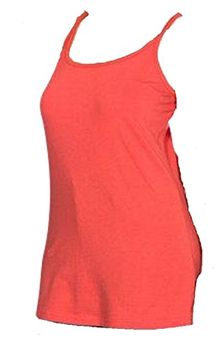 Sheego Damen Spaghetti Top, Rot (korallrot), 50 von Sheego
