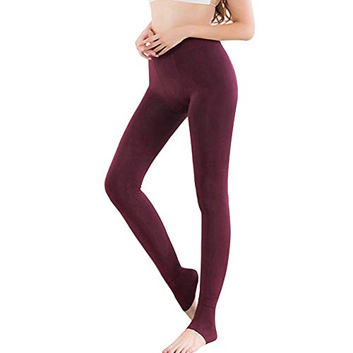 Shujin Damen Thermo Strumpfhose mit Innenfleece Blickdichte Winter Leggings High Waist Dicke Samt Gefüttert Thermische Dehnbare Leggings Stretch Strümpfe Hosen von Shujin