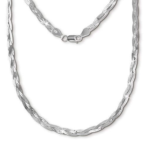 SilberDream geflochten Halskette silber Schmuck 45cm 925 Silber SDK27645J  von SilberDream ce9057212d