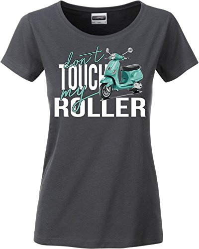 Siviwonder Women T-Shirt - Roller Moped - Dont Touch My - Fun Dark Grey L -38 von Siviwonder