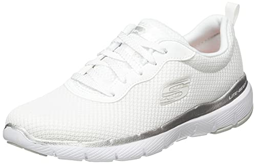 Skechers Flex Appeal 3.0 First Insight Trainingsschuhe Damen weiß/Silber, 42 EU - 8.5 UK - 12 US von Skechers