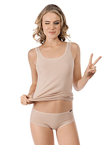 Skiny Damen Advantage Cotton Tank Top 2er Pack , Beige (Skin), 44(XXL) EU von Skiny