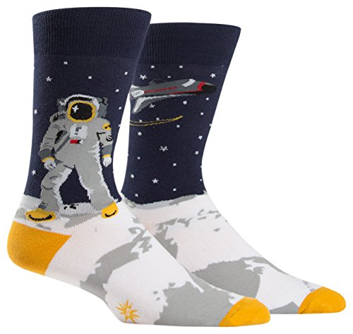 Sock It To Me One Giant Leap Mens Crew Socks von Sock It To Me
