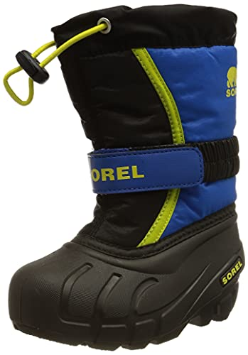 Sorel Unisex-Kinder-Winterstiefel, YOUTH FLURRY, Schwarz (Black, Super Blue), Größe: 36 von Sorel