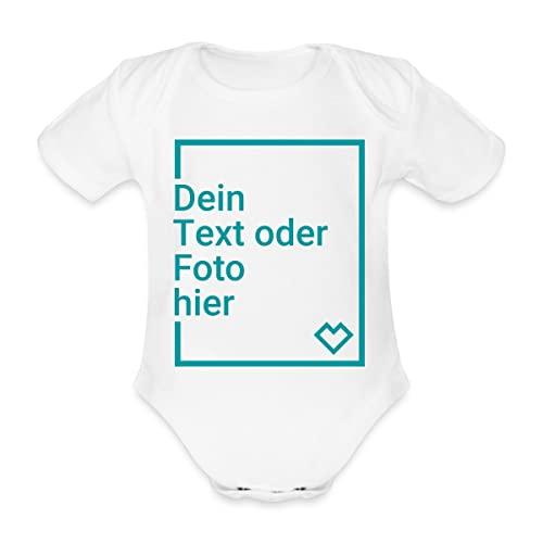 Spreadshirt Panda Mindestabstand Ich Bin Der Beweis Baby Bio-Kurzarm-Body