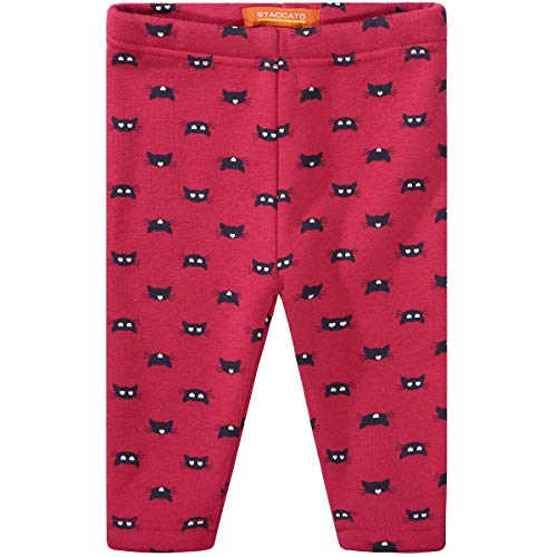 Staccato Baby Thermo Leggings CATS | Allover-Print |Größe 68 | rasberry von Staccato
