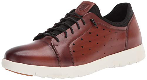 Stacy Adams Herren Halden Cap Toe Elastic Lace Sneaker, Cognac, 39 1/3 EU von Stacy Adams