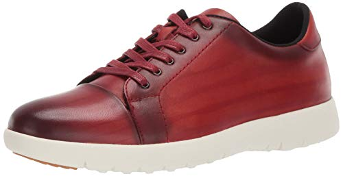 Stacy Adams Herren Hawkins Cap-Toe Lace-Up Sneaker Turnschuh, Cranberry, 45.5 EU von Stacy Adams