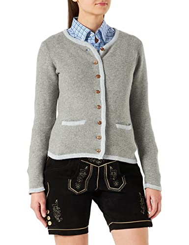 Stockerpoint Damen Jacke Caro Strickjacke, Fuchsia-anthrazit, 34 von Stockerpoint