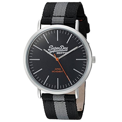 Superdry Herren Analog Quarz Uhr mit Nylon Armband SYG183BE von Superdry
