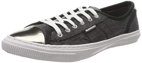 Superdry Damen Low PRO Luxe Sneaker Gymnastikschuhe, Schwarz (Washed Black AFB), 38 EU von Superdry