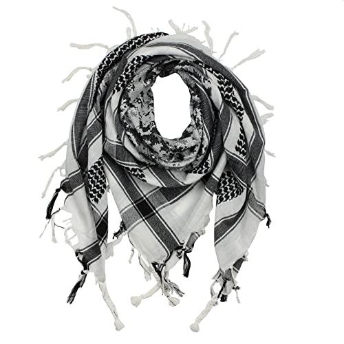 Ornamente quadratisches Kopftuch Superfreak Bandana Tuch wei/ß-schwarz Kariert