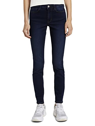 TOM TAILOR Denim Damen Nela Extra Skinny Jeans, 10120 - Used Dark Stone Blue, XXL/32 von TOM TAILOR Denim
